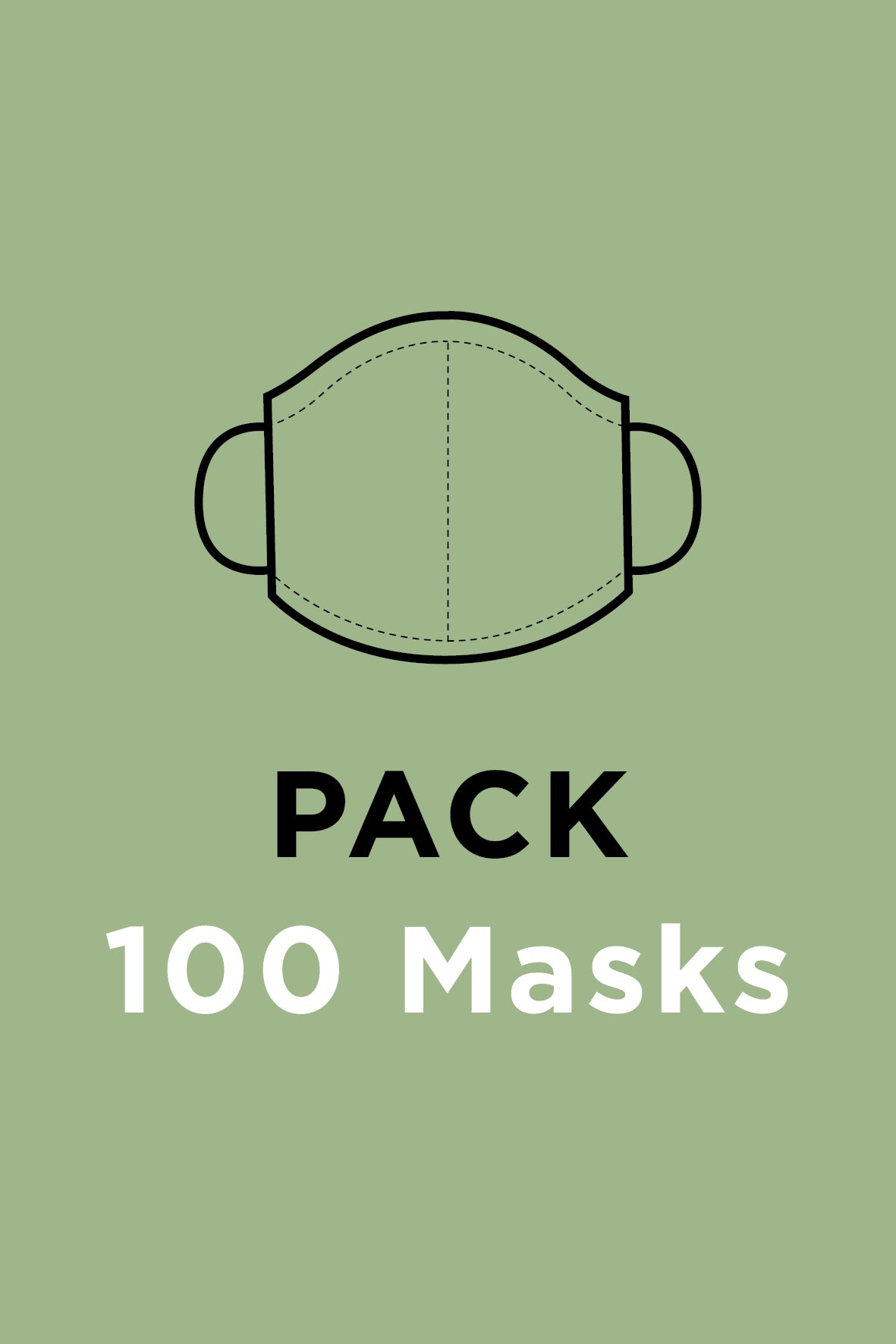 Face Masks <br> Pack of 100