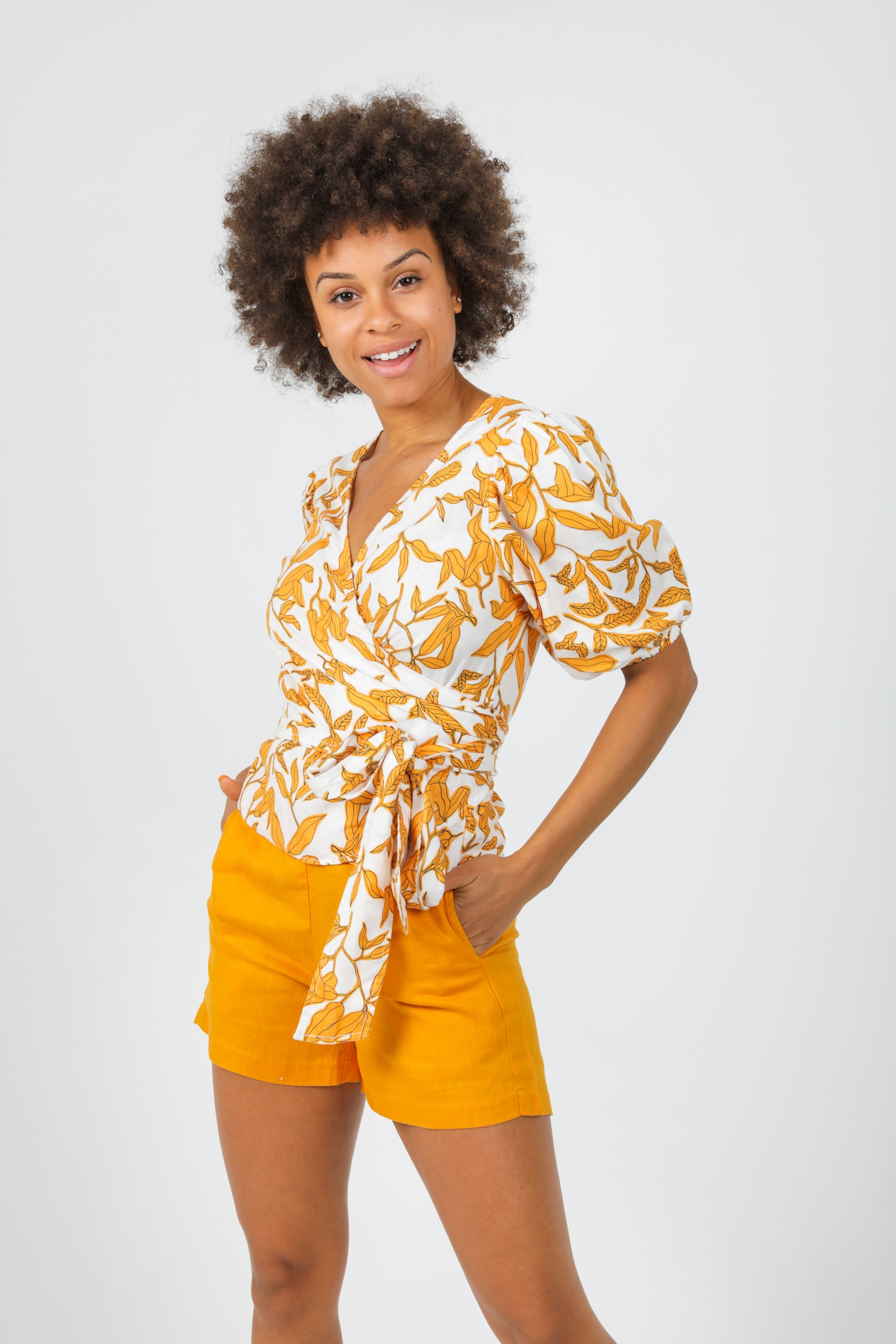 Magnolia Top - Ginger Print