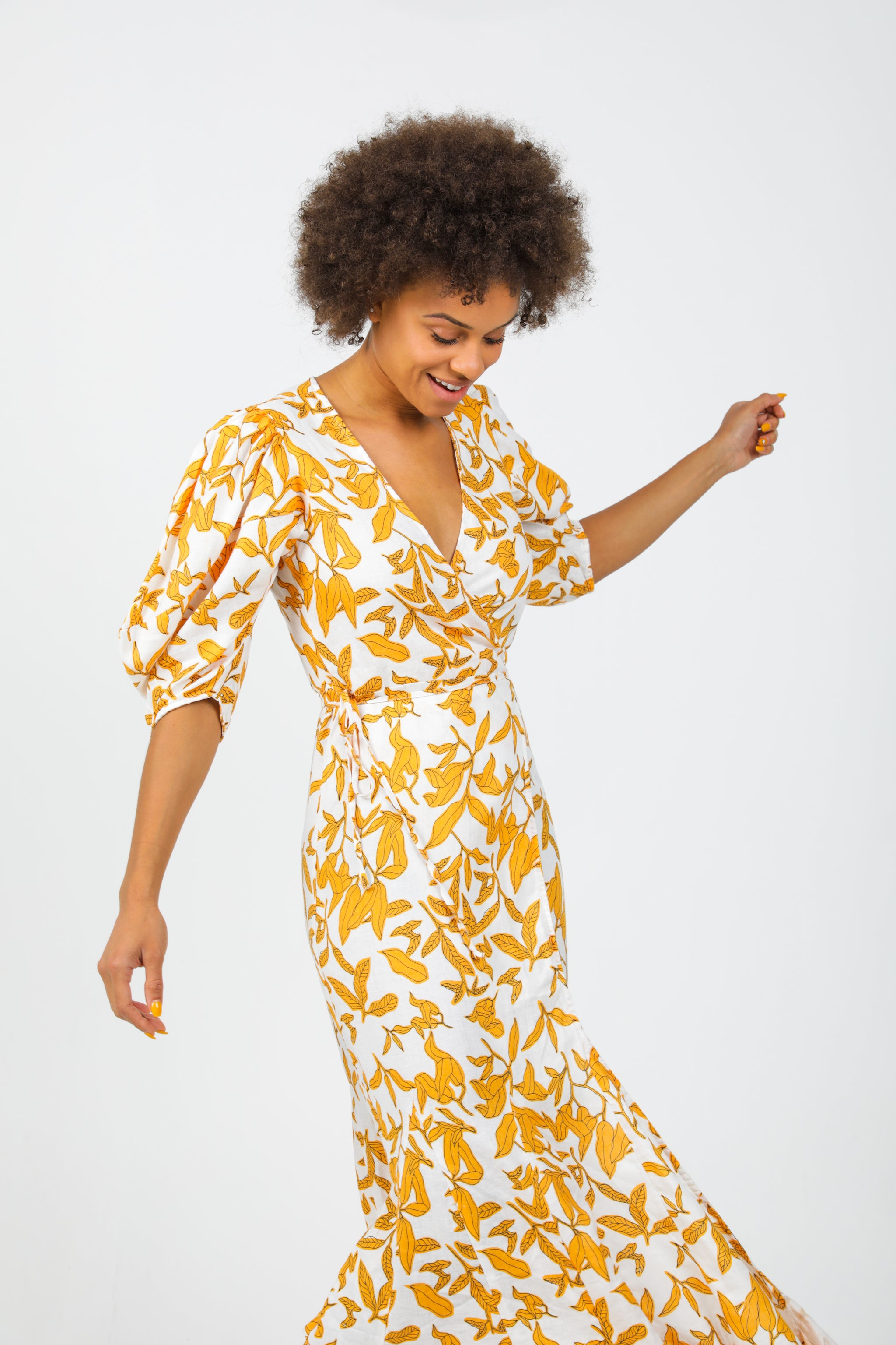 Margarita Dress - Ginger Print