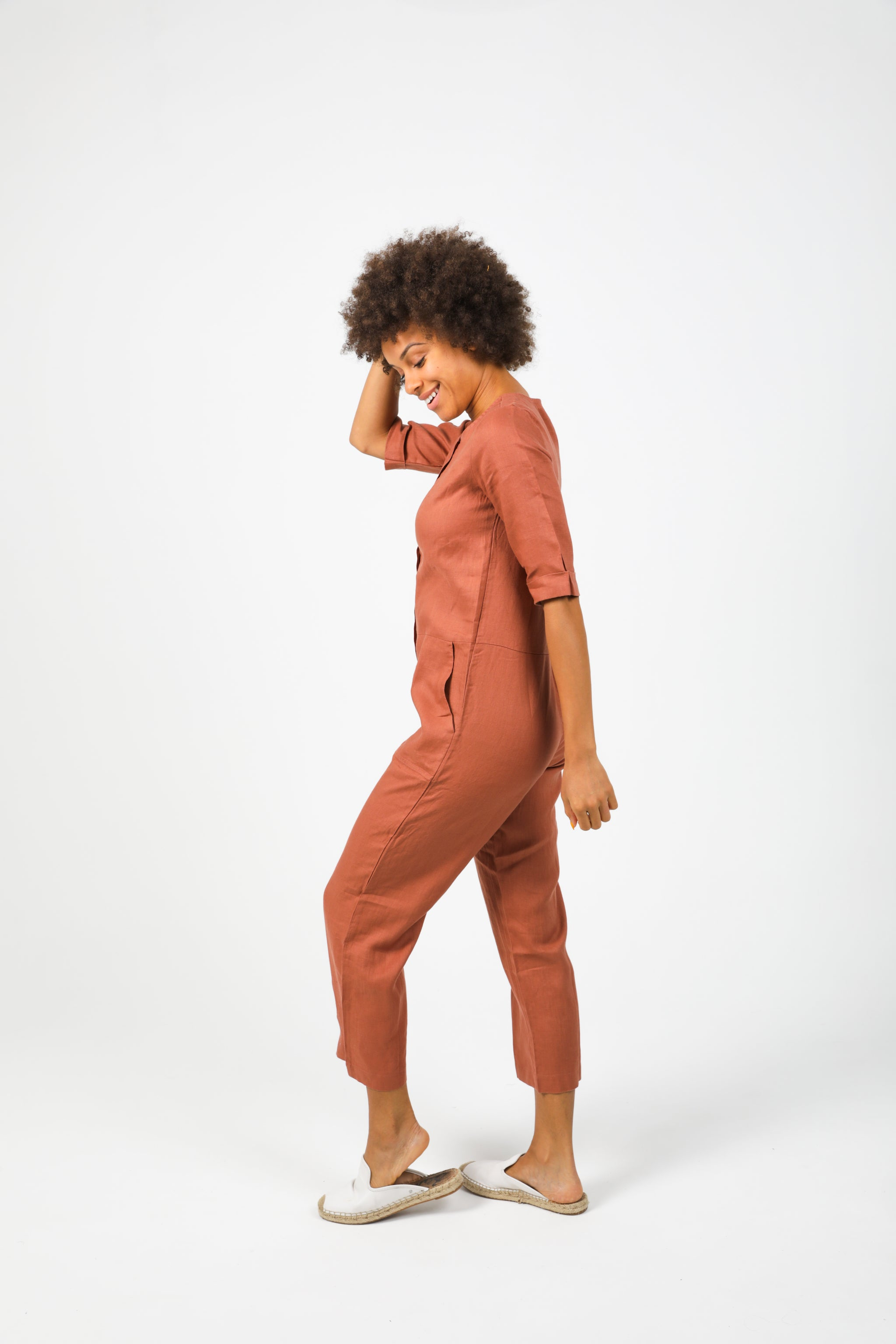 Mia Jumpsuit - Terracotta