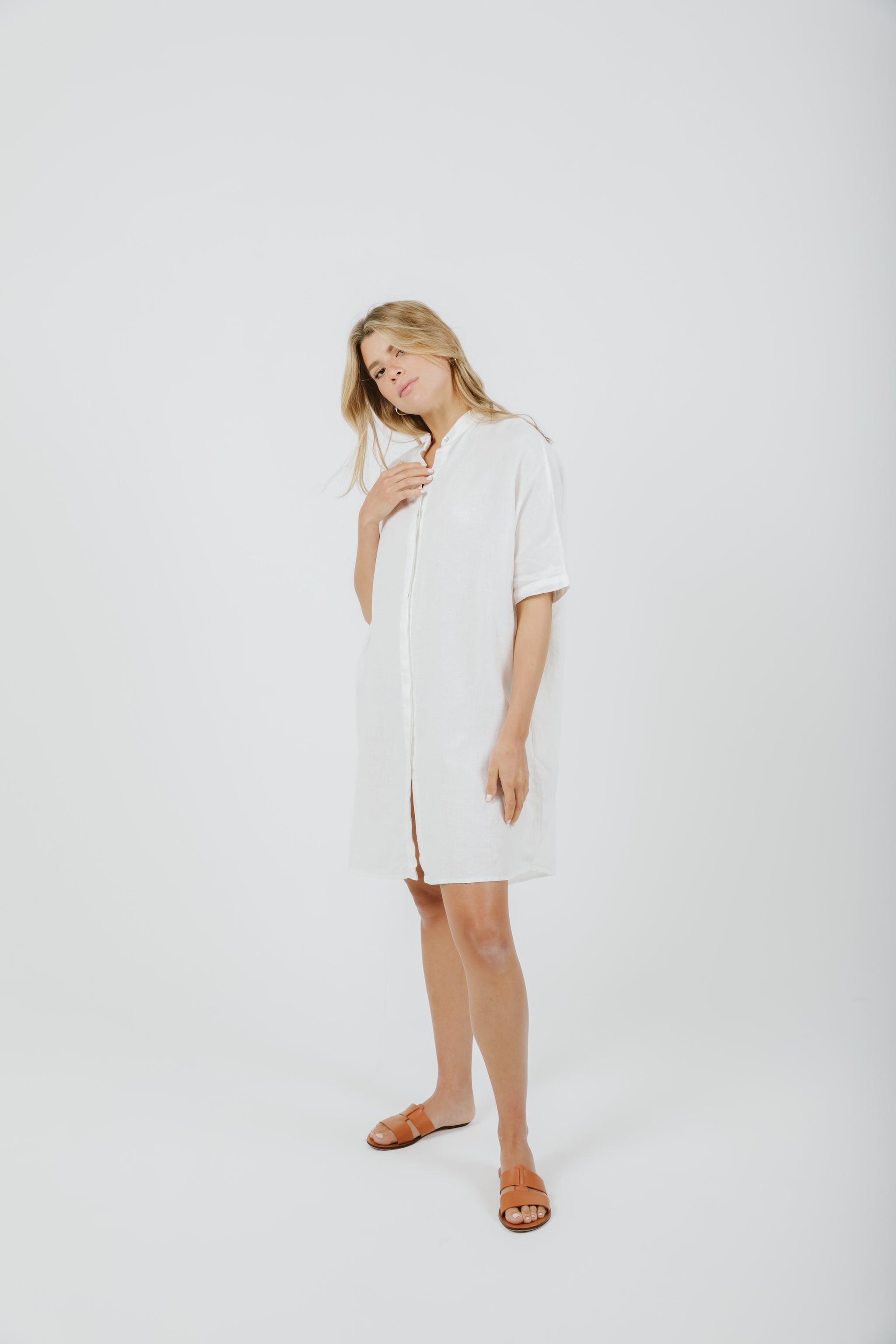 Shirt Dress - White