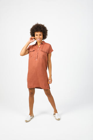 Uma Short Dress - Nude