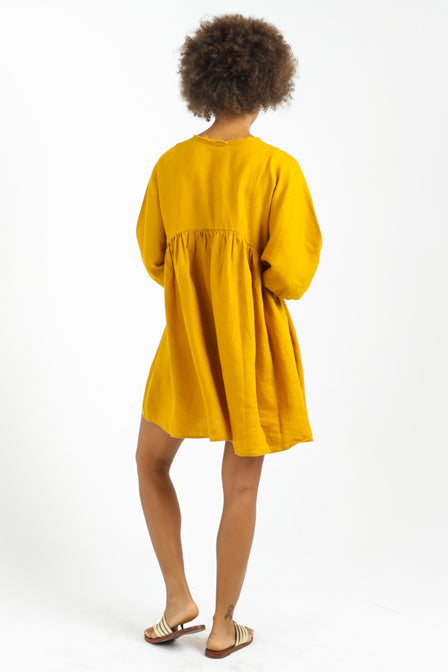 Alcala Dress - Mustard