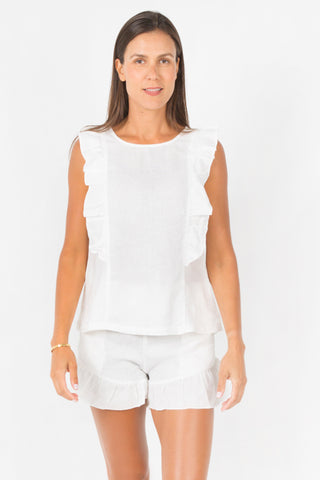 Queen Top - White
