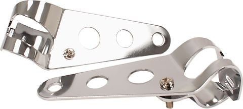 Universal adjustable 3 Hole Cafe Style Headlight Brackets