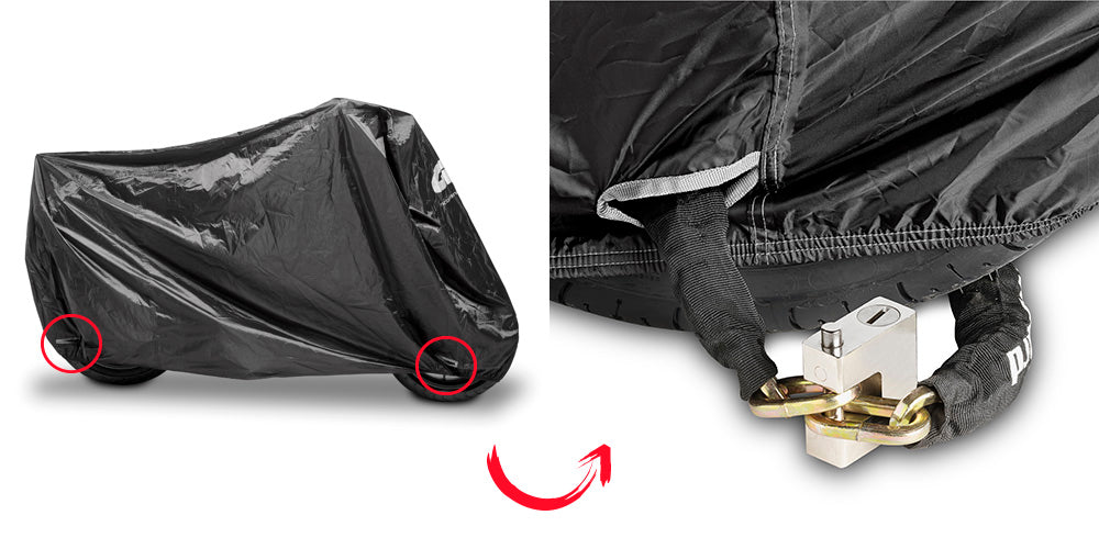 Givi S202XL Extra Large Black Motorcycle Cover
