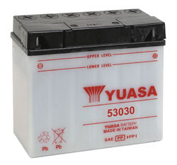 Yuasa 53030 vented motorcycle battery