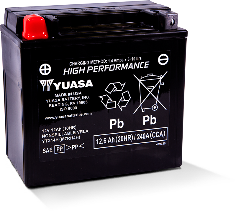 Yuasa YTX14H Factory Activated Battery