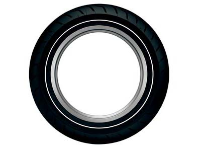 Dunlop American  Elite Narrow White Wall 180/65B16 (Rear)