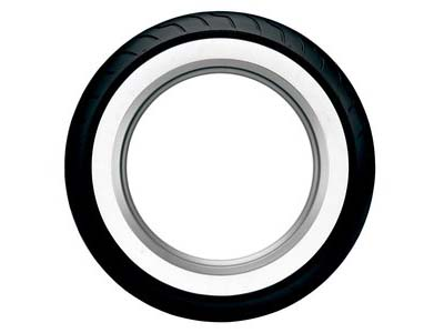 Dunlop American  Elite Wide White Wall MT90B16 (Rear)