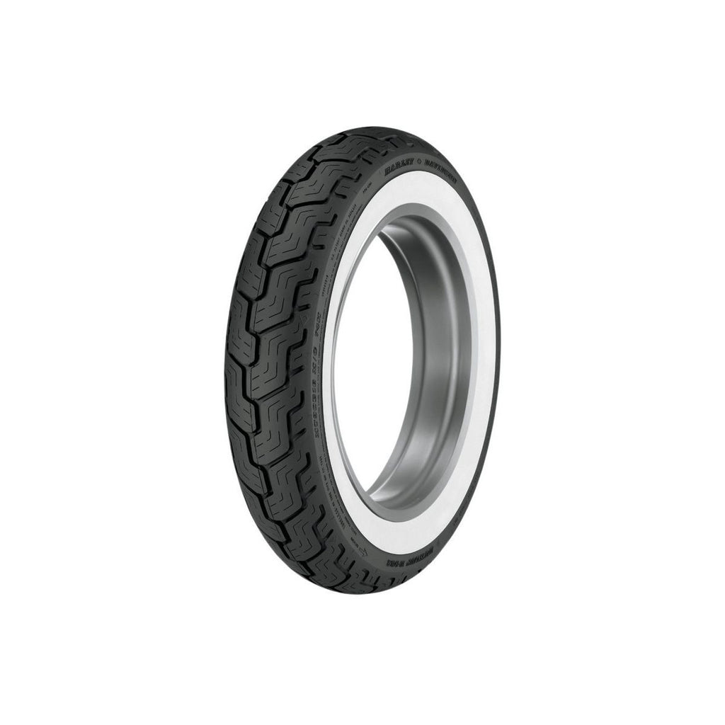 Dunlop D402 Wide White Wall Rear Harley Davidson Tire