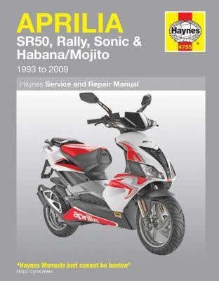 Aprilia Scooters Haynes Repair Manual covering the SR50, Rally, Sonic, Habana and Mojito from 1993 thru 2009