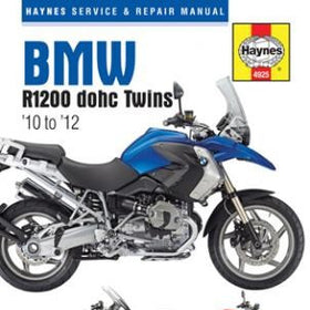 BMW R1200 dohc Twins Haynes Repair Manuals covering all models from 2010 thru 2012