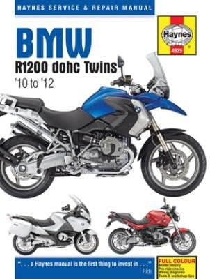 Haynes Repair Manual BMW R1200 dohc Twins 2010 to 2012