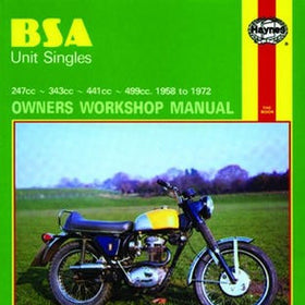 BSA Unit Singles Haynes Repair Manual for 1958 thru 1972