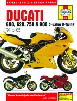 Haynes Repair Manual Ducati 600, 620, 750 and 900 2-valve V-Twins 1991-2005