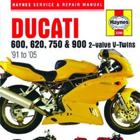 Ducati 600, 620, 750 and 900 2-valve V-Twins Haynes Repair Manual for 1991 thru 2005