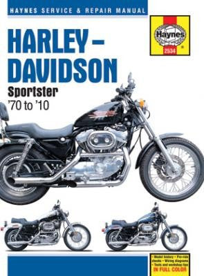Haynes Repair Manual Harley Davidson Sportster 1970-2010 XL, XLH, XLCH, XLS and XLX 883/1000/1100 and 1200 engines