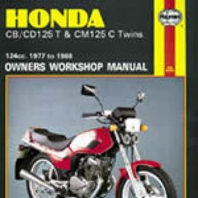 Honda CB125T, CD125T and CM125C Twins Haynes Repair Manual for 1977 thru 1988