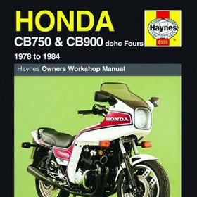 Honda CB750 and CB900 dohc Fours Haynes Repair Manual for 1978 to 1984 (Does not include information for the CB900 Custom model)