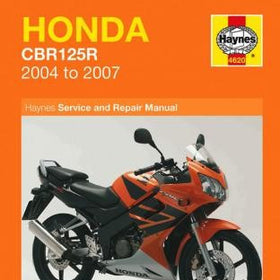 Honda CBR125R Haynes Repair Manual for 2004 thru 2007