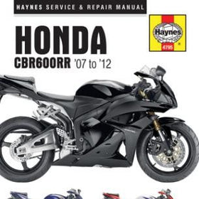 Honda CBR600RR Haynes Repair Manual for 2007 thru 2012