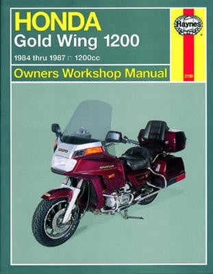 Honda Gold Wing 1200 Haynes Repair Manual covering 1200cc models for 1984 thru 1987 (Does not include fuel-injected models)