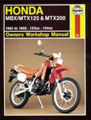 Honda MBX, MTX125, and MTX200 Haynes Repair Manual for 1983 thru 1993