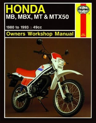Honda MB, MBX, MT and MTX50 Haynes Repair Manual for 1981 thru 1982