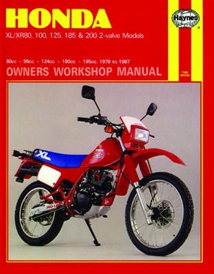 Honda XL/XR Haynes Repair Manual from 1978 thru 1987 with 80cc thru 200cc engines. Does not include 199cc RFVC-engined (4-valve) 1984-85 US XR200R