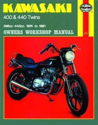 Kawasaki 400 and 440 twins Haynes Repair Manual covering 398cc & 443cc 1974 to 1981
