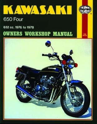 Kawasaki 650 Four Haynes Repair Manual covering 652cc models for 1976 to 1978