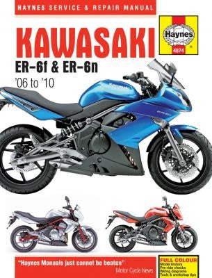 Kawasaki EX650 and ER650 Haynes Repair Manual for 2006 thru 2010