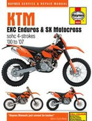 KTM EXC/MXC Enduros and SX Motocross Haynes Repair Manual for 2000 thru 2007 (excludes dohc EXC-F and SX-F)