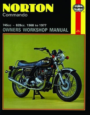 Norton Commando Haynes Repair Manual covering 745cc and 828cc models for 1968 to 1977