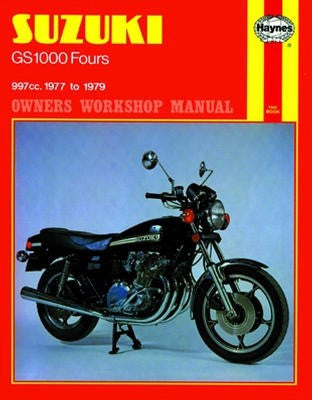 Suzuki GS1000 Haynes Repair Manual covering all GS1000 Four models for 1977 to 1979