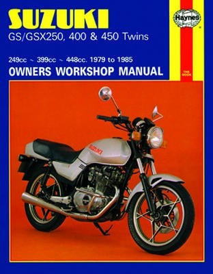 Suzuki GS Twins Haynes Repair Manual covering GS250 (1980-1982) and GS 450 (1979-1985)