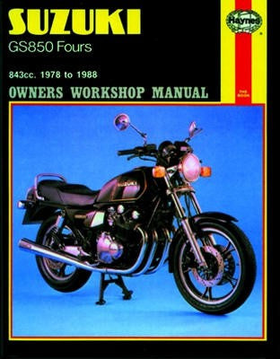 Suzuki GS850G/GL Fours Haynes Repair Manual for 1978 to 1983