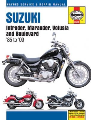 Haynes Repair Manual Suzuki Intruder, Marauder, Volusia and Boulevard