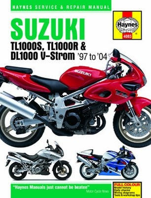 Suzuki TL1000 Haynes Repair Manual covering TL1000S, TL1000R and DL1000 V-Storm models for 1997 to 2004