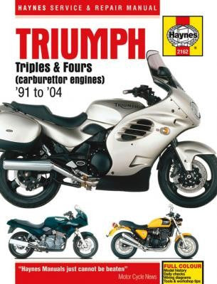 Triumph 750/900 Triples and 1200 Fours Haynes Repair Manual for 750, 900 and 1200cc for 1991 thru 2004