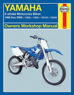 Yamaha 2-Stroke Motorcross Bikes Haynes Repair Manual for 1986 thru 2006 covering YZ80, YZ85, YZ125 and YZ250 models