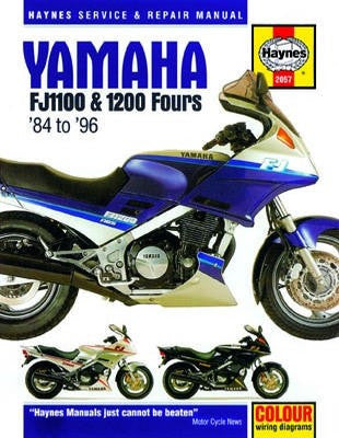 Yamaha FJ1100 and 1200 Fours Haynes Repair Manual covering FJ1100 (1984-1985), FJ1200 (1986-1992) and FJ1200A (1992-1993)
