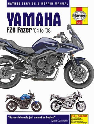 Yamaha Haynes Repair Manual covering FZ6 Fazer for 2004 thru 2008