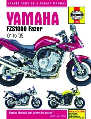 Yamaha FZS1000 Fazer Haynes Repair Manual for 2001 to 2005