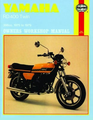 Yamaha RD400 Twin Haynes Repair Manual covering 398cc models for 1975 to 1979