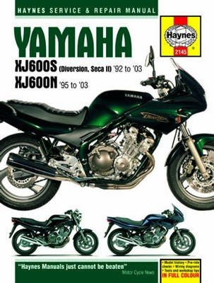 Yamaha XJ600S and XJ600N Haynes Repair Manual covering XJ600S Diversion and Seca II (1992 to 2003) and XJ600N (1995 to 2003)