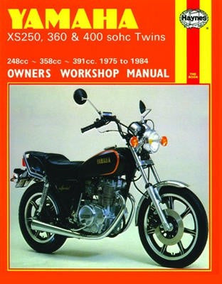 Yamaha XS360 and 400 SOHC Twins Haynes Repair Manual covering 248cc, 358cc and 391cc models for 1975 to 1984
