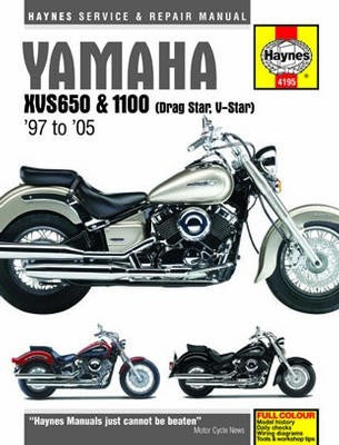 Yamaha XVS650 and 1100 Haynes Repair Manual covering XVS650 and 1100 Drag Star and V-Star models for 1998 to 2005