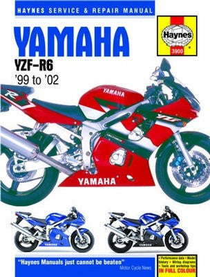 Yamaha YZF-R6 Haynes Repair Manual for 1999 to 2002